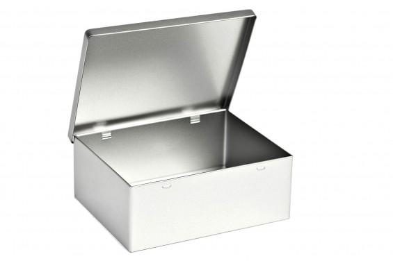 Boîte métal rectangulaire avec couvercle