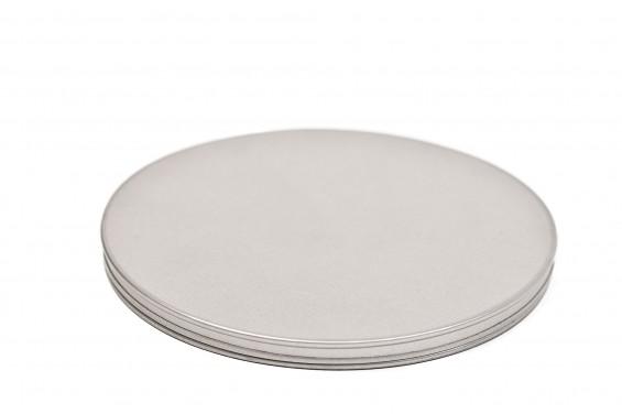 Boîte métal ronde pour cartons noir