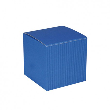 Cube de carton bleu
