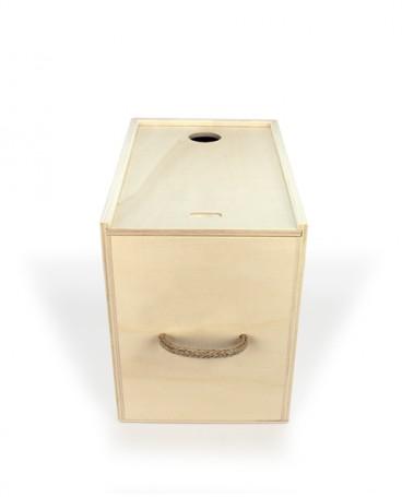 Boîte de bois pour vin en sac