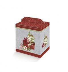 Boîte de carton avec poignée