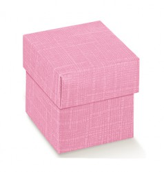 Boîte de carton rose