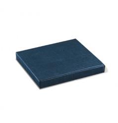 Boîte de carton bleu