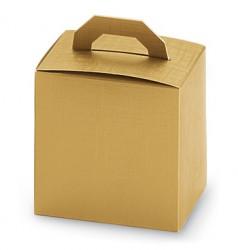 Boîte en or avec charnier dans le couvercle