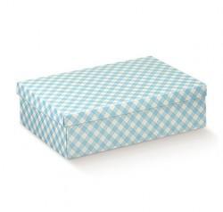 Boîte en bleu et blanc