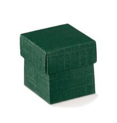 Boîte de carton verte