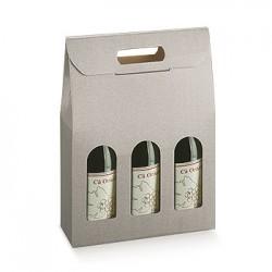 Boîte pour trois bouteilles