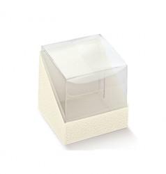 Cube en PET et base de carton