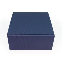 Emballage carton ondulé bleu marine