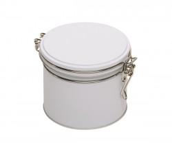 Boîte en métal blanche