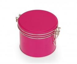 Boîte en métal rose