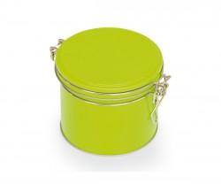 Boîte en métal verte