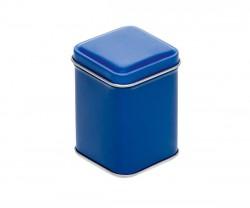 Boîte en métal bleue