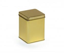 Boîte en métal dorée