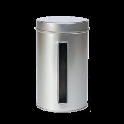 Boîte de métal ronde