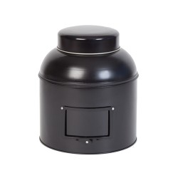 Pot de métal noir