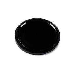 Couvercle de métal en noir