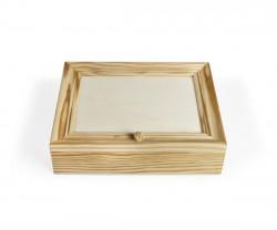Boîte de bois carrée