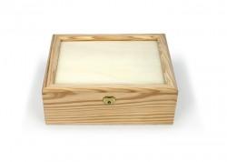 Boîte de bois avec couvercle