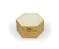 Boîte de bois en forme hexagonal