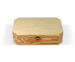 Boîte de bois coupée