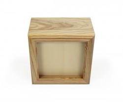 Boîte de bois avec couvercle glissant