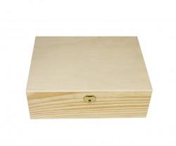 Boîte de bois avec deux plateaus
