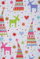 Papier d'emballage patrón colorié